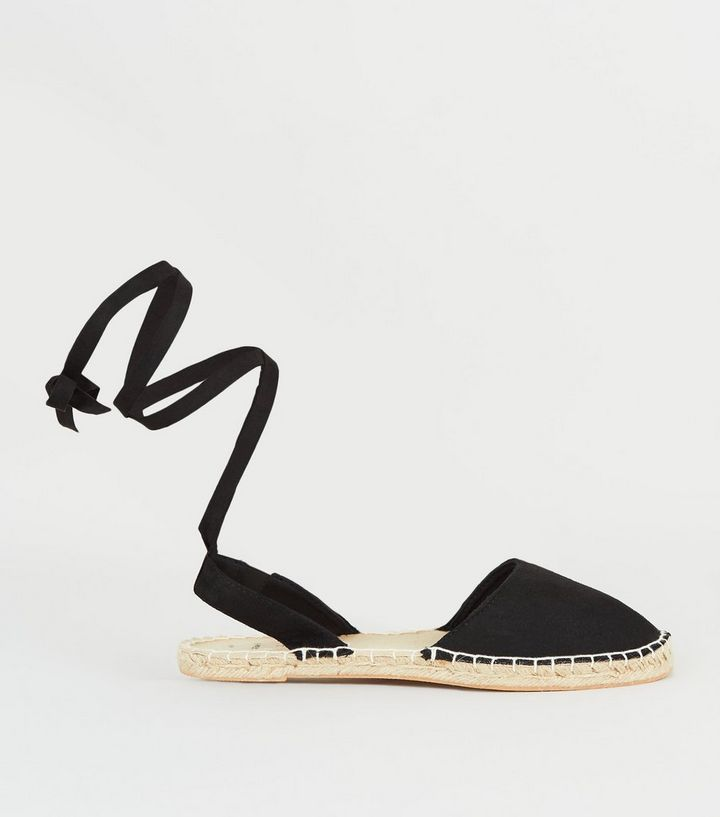 17a20f5e6cd Wide Fit Black Ankle Tie Espadrilles Add to Saved Items Remove from Saved  Items