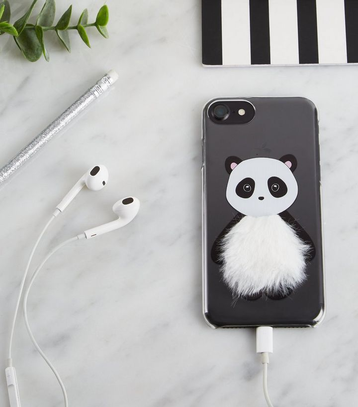 low priced 39afe d0e09 Black Panda Fluffy iPhone 6/6s/7/8 Case Add to Saved Items Remove from  Saved Items