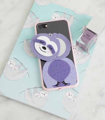 Lilac Sloth Mirror iPhone 6/6s/7/8 Case