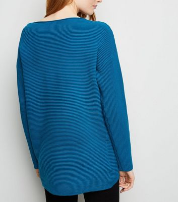 d118b5bc9 Apricot Blue Ribbed Oversized Jumper New Look - Female First Shopping