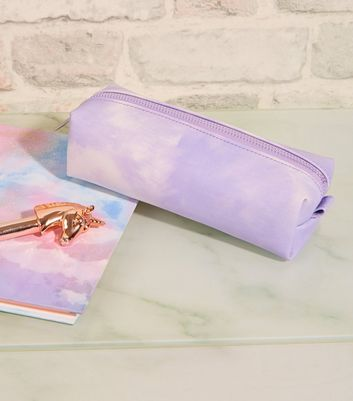 Lilac Tie Dye Skinny Pencil Case