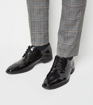 Black Patent Lace-Up Shoes