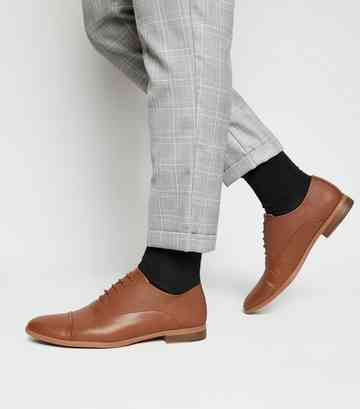 Chaussures Oxford en similicuir ocre