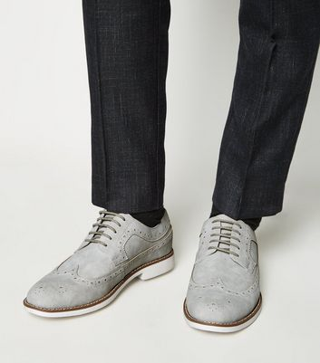 Grey Suedette Brogues