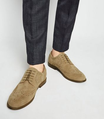 Tan Suedette Lace Up Brogues