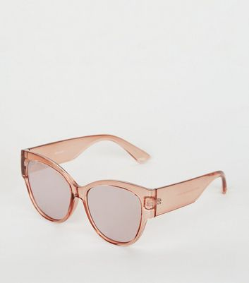Pink Chunky Arm Sunglasses