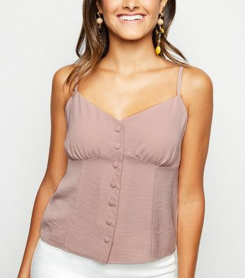 Pale Pink Button Front Cami