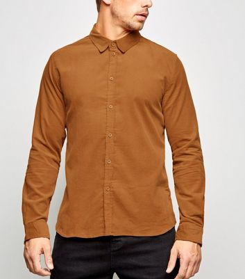 Tan Long Sleeve Corduroy Shirt