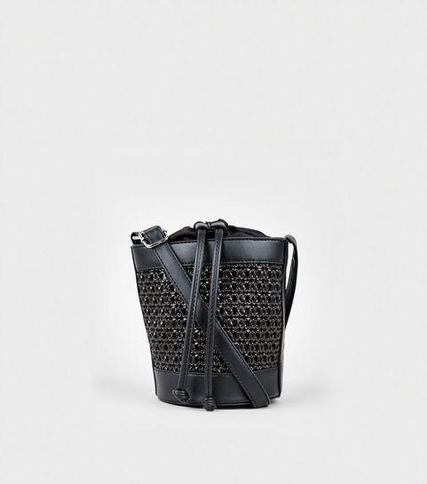 Black Woven Bucket Bag · Black Woven Bucket Bag ... 31f79321b8