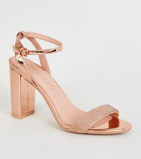a72ad8ac886 Heeled Sandals | Barely There & Strappy Heeled Sandals | New Look