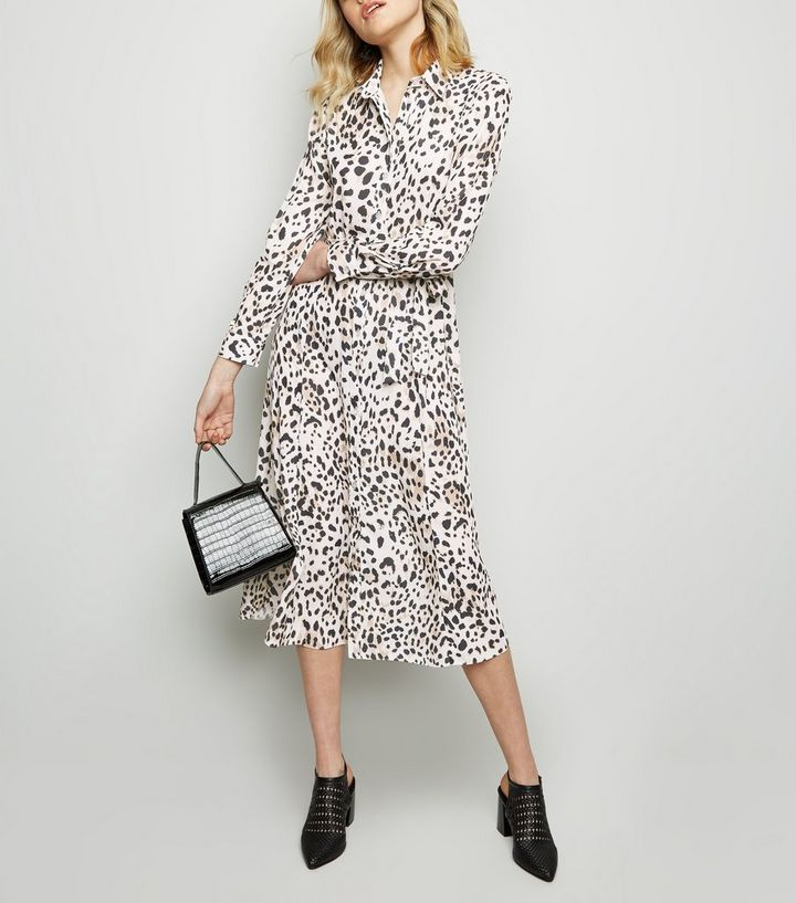 70a4e548ec Brown Leopard Print Midi Shirt Dress | New Look