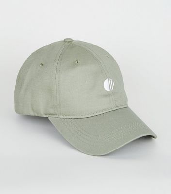 Olive Embroidered Circle 6 Panel Cap