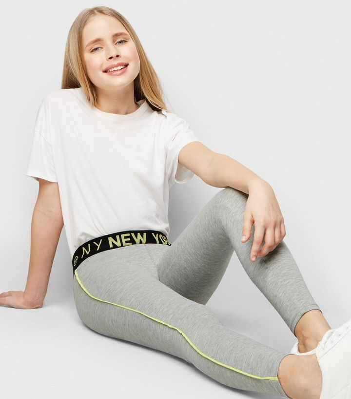7b41dd07b161d ... Girls Grey Neon New York Side Piped Leggings. ×. ×. ×. Shop the look