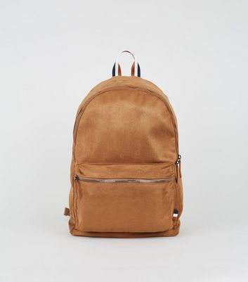 Tan Suedette Backpack
