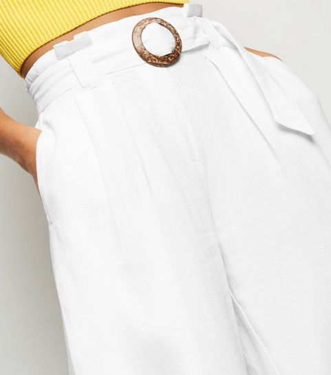 Off-White Linen Look Trousers