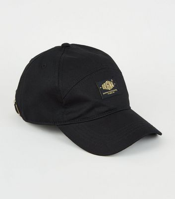 Black Original Slogan 7 Panel Cap