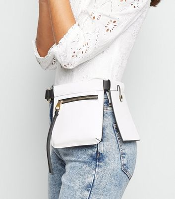 White Leather Look Double Purse Belt Add to Saved Items Remove from Saved Items