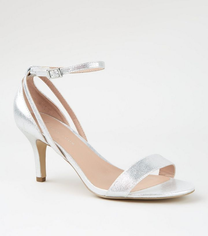 skilful manufacture discount collection how to buy Wide Fit Silver Low Heel Sandals Add to Saved Items Remove from Saved Items