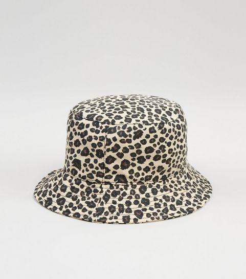 98b882d1a4f ... Brown Leopard Print Bucket Hat ...