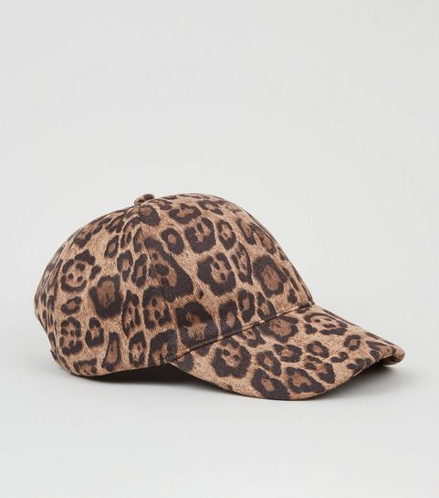 b30e56a535d Brown Leopard Print Cap · Brown Leopard Print Cap ...