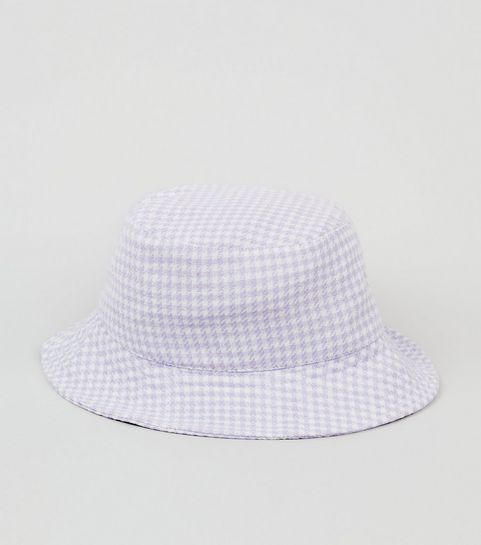 59e2db0f04c6e Lilac Gingham Bucket Hat · Lilac Gingham Bucket Hat ...