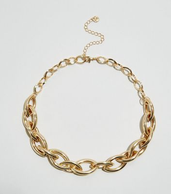WANTED Gold Chunky Oval Chain Necklace
