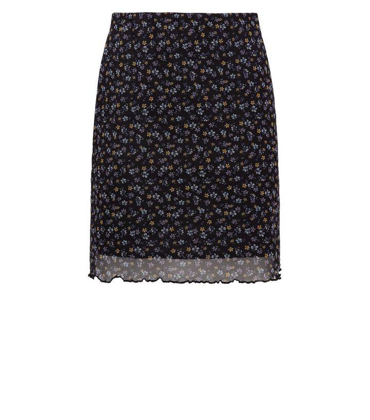 61b295bf45 ... Black Floral Mesh Tube Mini Skirt. ×. ×. ×. Shop the look
