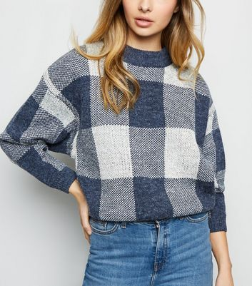 Blue Vanilla Navy Check Jumper