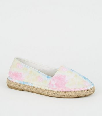 Girls Multicoloured Tie-Dye Espadrille Sandals
