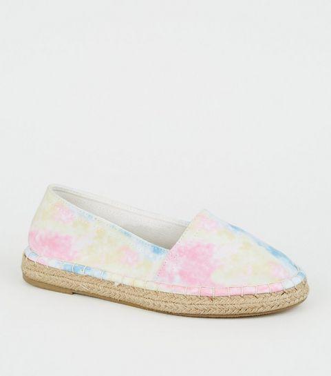 1b0d5a1a3715 ... Girls Multicoloured Tie-Dye Espadrille Sandals ...