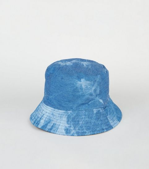 a4592c51ef1 ... Blue Acid Wash Bucket Hat ...