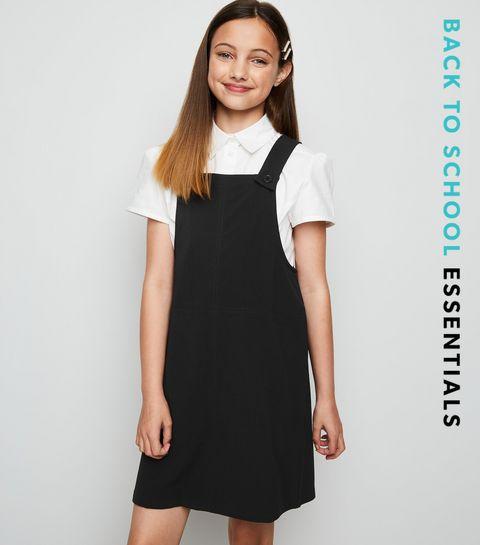 9a0469ef11c3 Girls Black Pinafore Dress · Girls Black Pinafore Dress ...