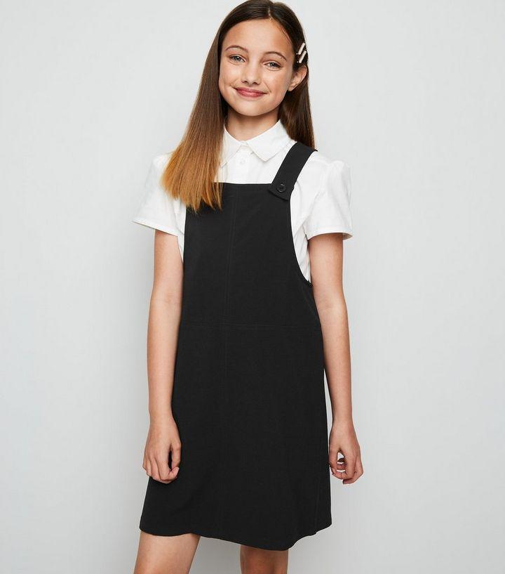 94affa99397a Girls Black Pinafore Dress | New Look