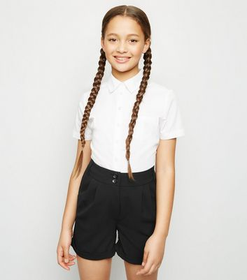 Girls Black City Shorts