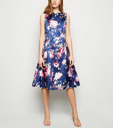 64e38f7767 ... Mela Multicoloured Floral Skater Dress ...