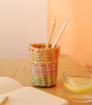 Multicoloured Woven Pen Pot