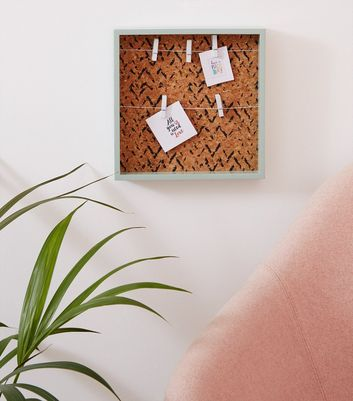 Green Cork Photo Peg Board