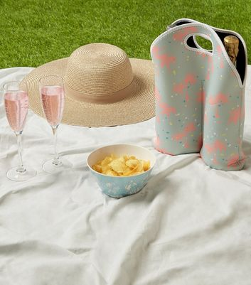 Multicoloured Palm Print Wine Cooler Bag