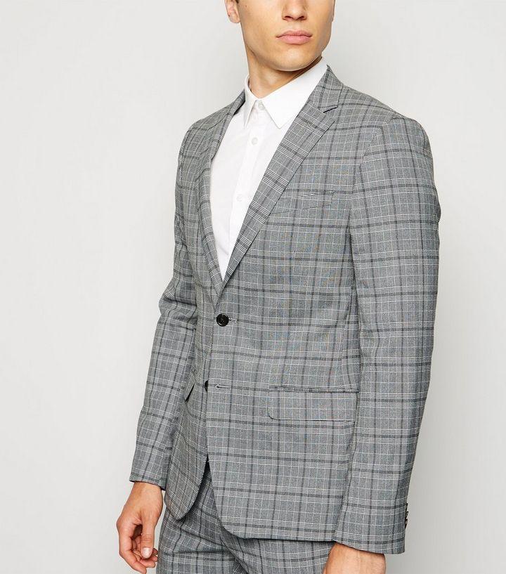 prezentarea foarte ieftin produse calde Blazer gris à motif prince de Galles | New Look