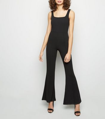 Black Flared Leg Jumpsuit
