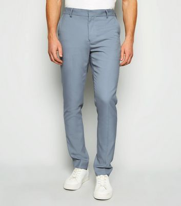Pale Blue Skinny Suit Trousers