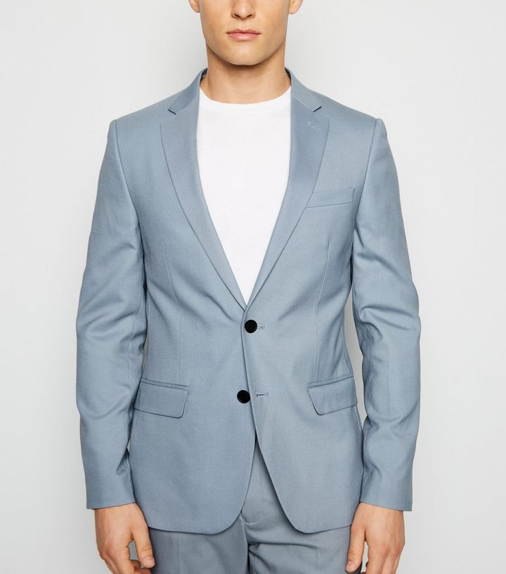 49935b46a6589 Pale Blue Skinny Suit Jacket   New Look