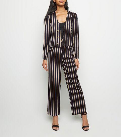 455dab9f3c7c1 ... Tokyo Doll Black Stripe Wide Leg Trousers ...