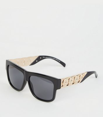 Black Chunky Chain Sunglasses