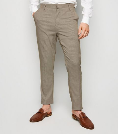 215ea0ac5c54 Camel Houndstooth Skinny Suit Trousers · Camel Houndstooth Skinny Suit  Trousers ...