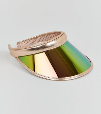 Rose Gold Mirrored Tinted Visor Hat