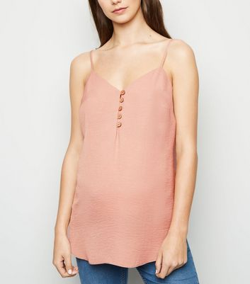 Maternity Pale Pink Button Front Cami