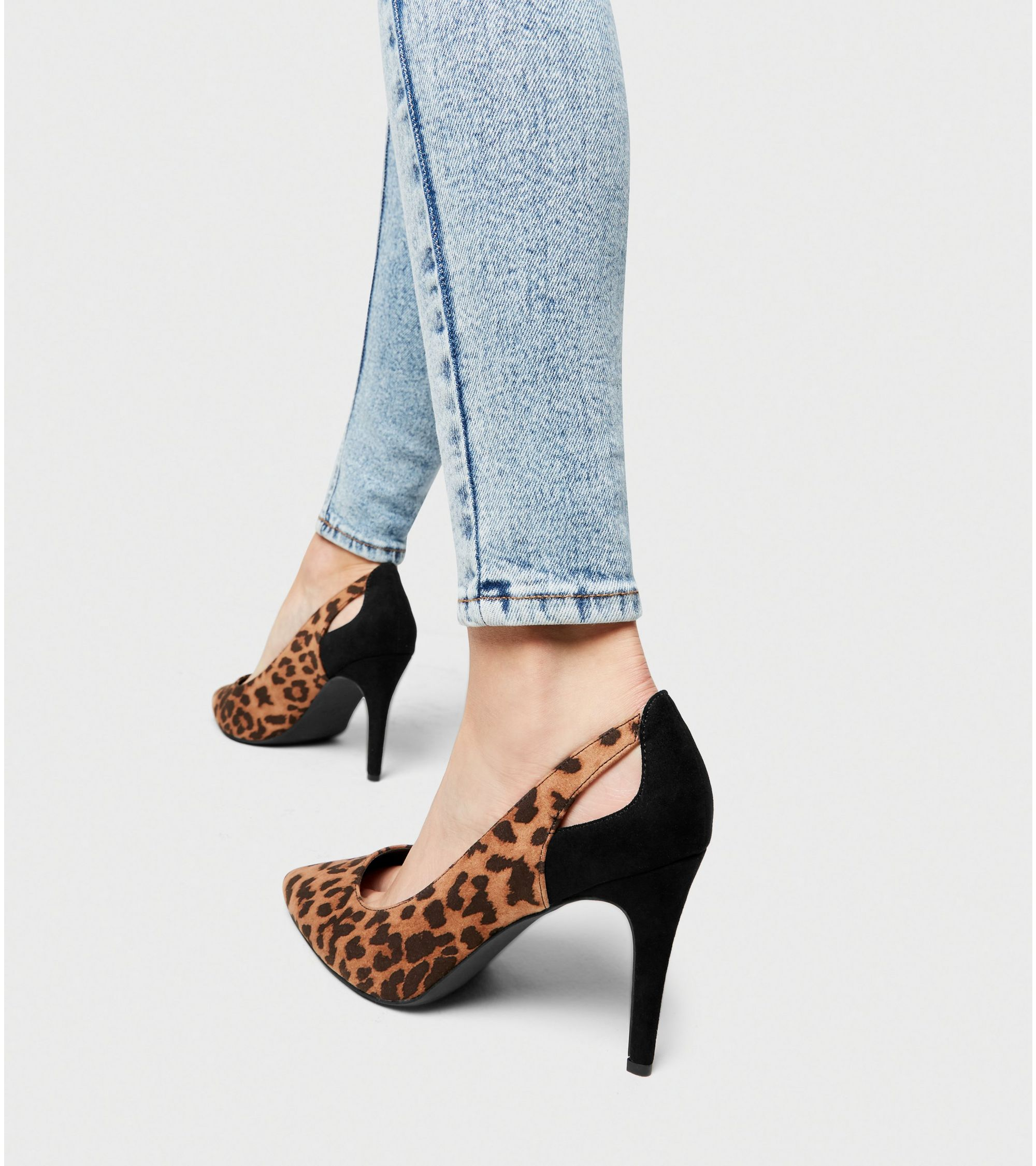 42ba7a78faa5 New Look wide fit brown leopard print court shoes at £14.99 | love ...