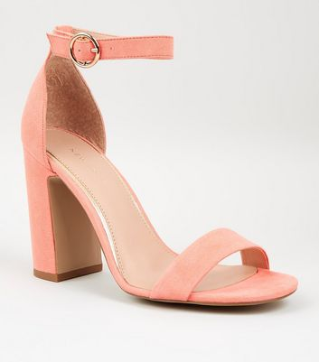 Coral Suedette 2 Part Block Heels