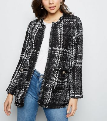 BV LONG TWEED CHECK JACKET